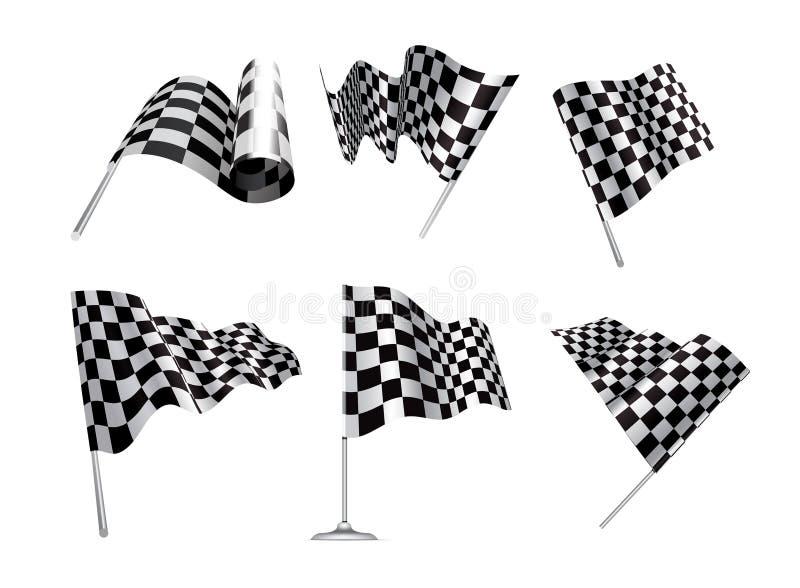 Indicateurs Checkered illustration de vecteur