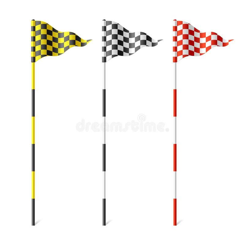 Indicateurs Checkered Photographie stock libre de droits