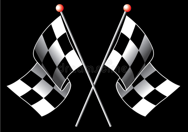 Indicateurs Checkered images stock