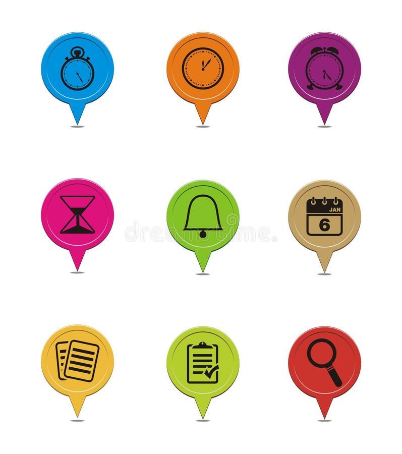 Indicateurs colorés d'organisateur illustration stock