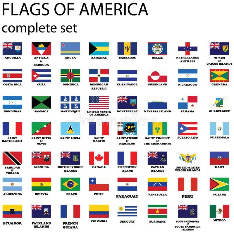 Indicateurs continents américains illustration de vecteur