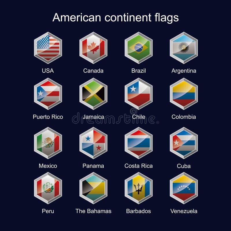 Indicateurs continents américains illustration libre de droits
