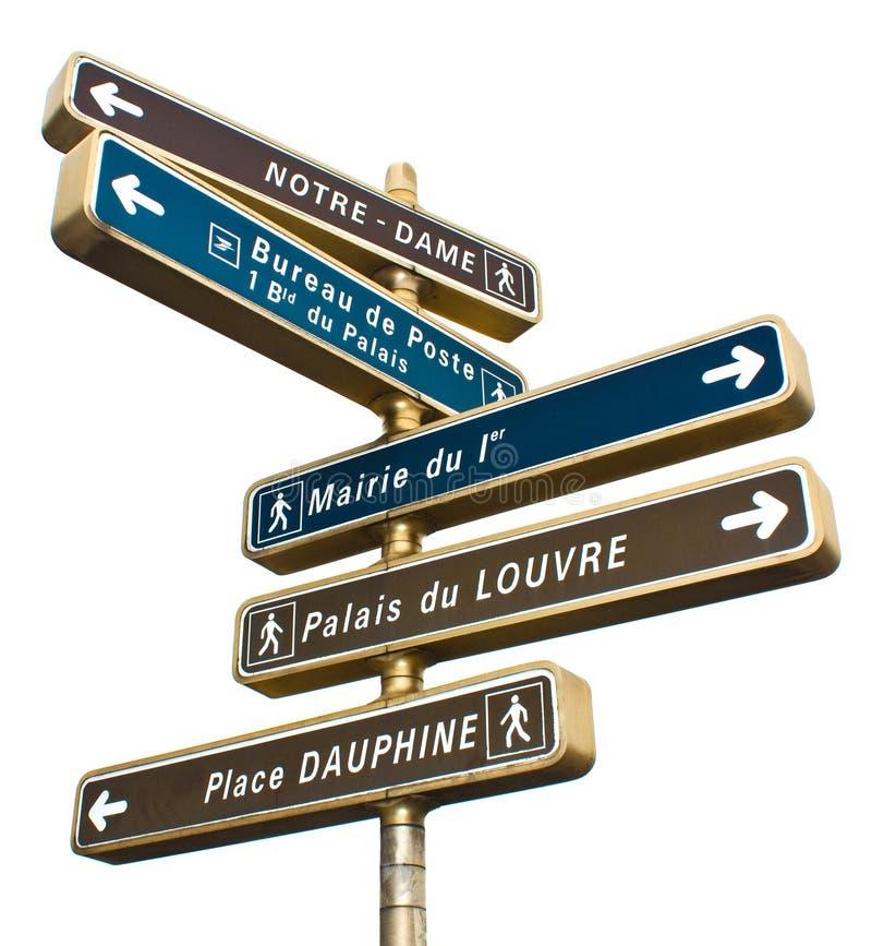 Indicateurs d'attractions de Paris photo stock