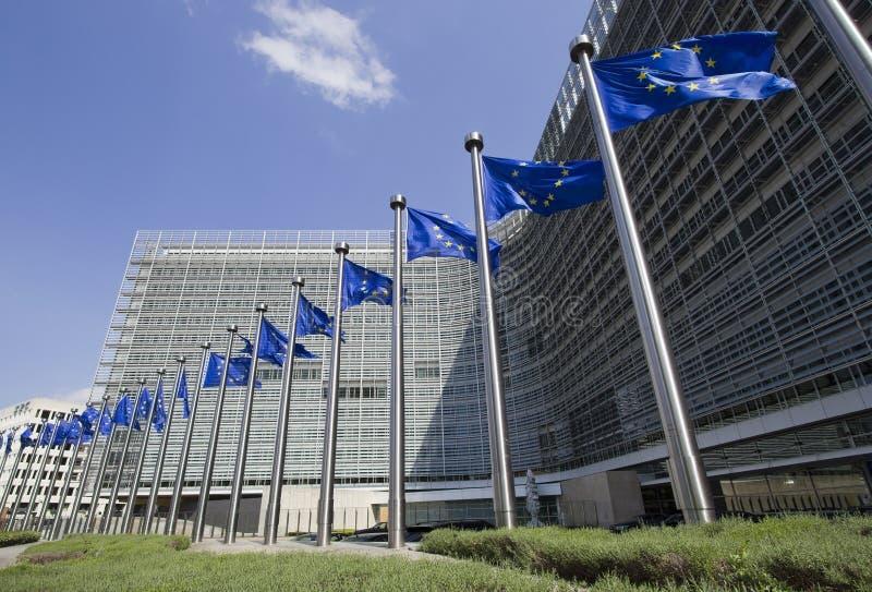 Indicateurs d'Union européenne à Bruxelles images stock