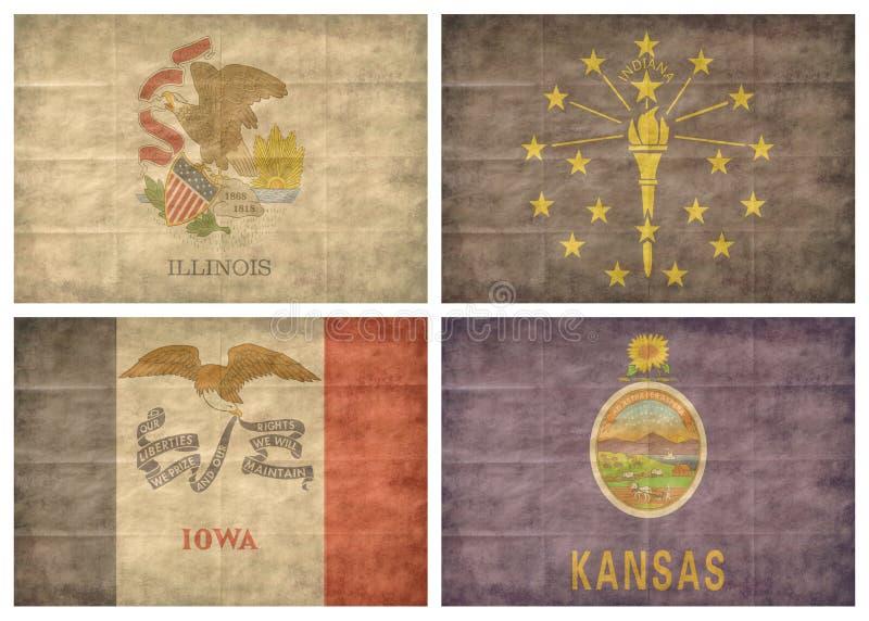 Indicateurs de 4/13 état d'USA illustration stock