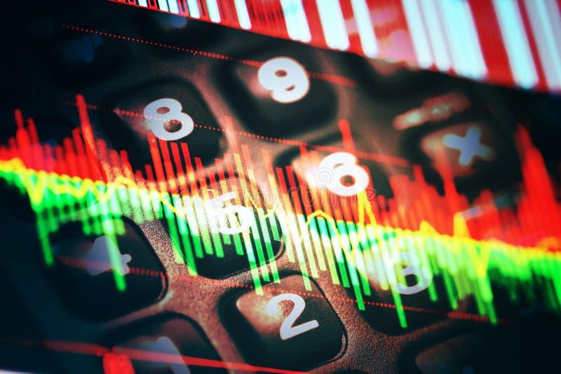 Indicateurs de données économiques photo libre de droits