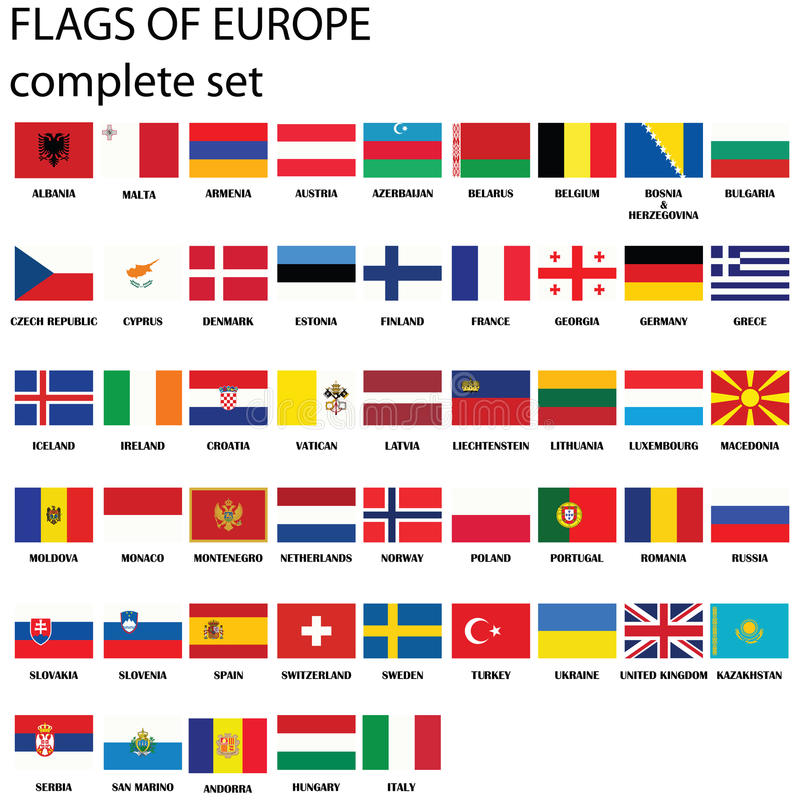 Indicateurs de l'Europe illustration de vecteur