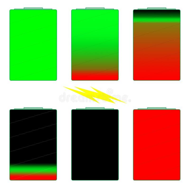Indicateurs de la vie de batterie image libre de droits