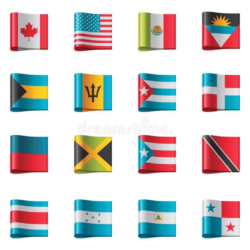 Indicateurs de vecteur. Nord et l'Amérique Centrale illustration libre de droits
