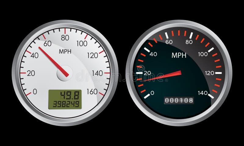 Indicateurs de vitesse illustration de vecteur