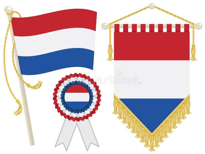 Indicateurs néerlandais illustration stock