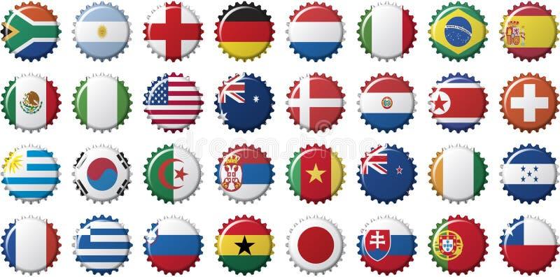 Indicateurs nationaux des pays illustration libre de droits
