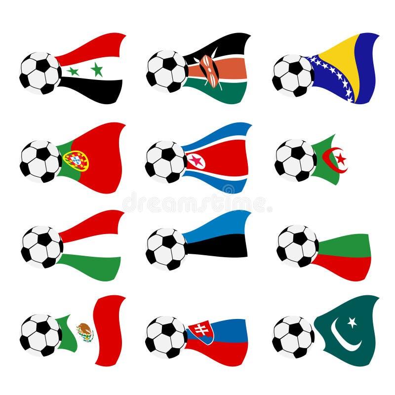 Indicateurs nationaux du football de vecteur illustration de vecteur