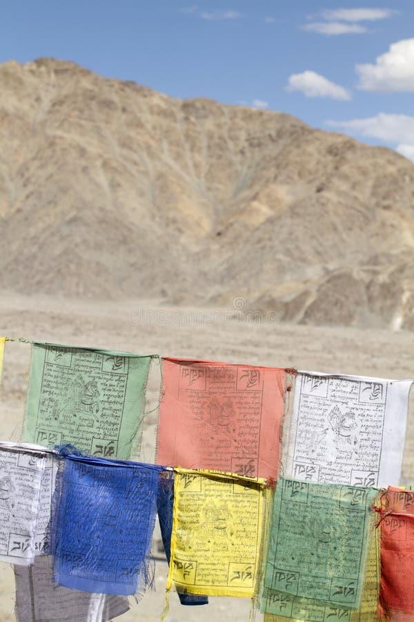 Indicateurs tibétains de prière images stock
