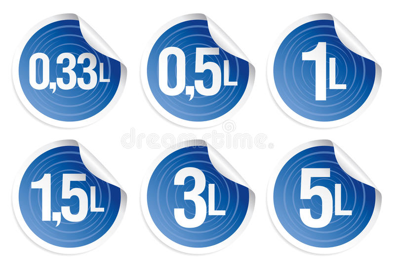 Download Indication Of Capacity Of Bottles Stock Vector - Illustration: 14474882