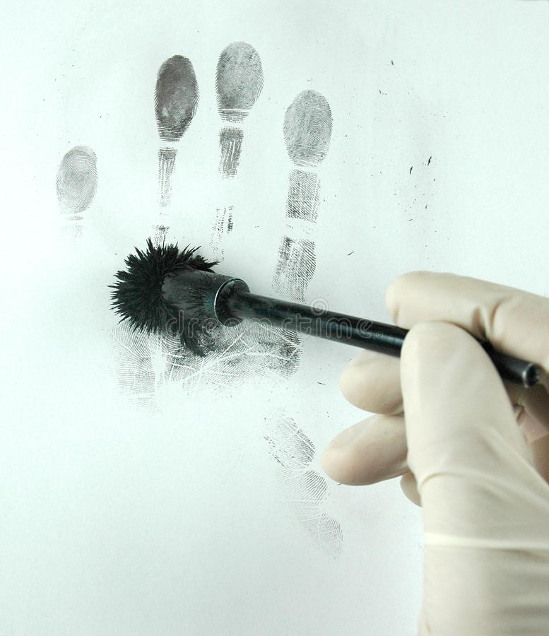 Indication des empreintes digitales image stock
