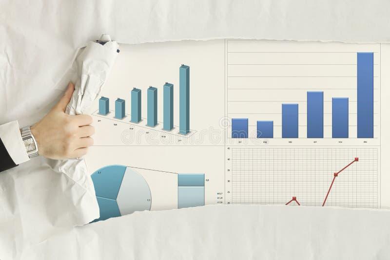 Indication des statistiques photo stock