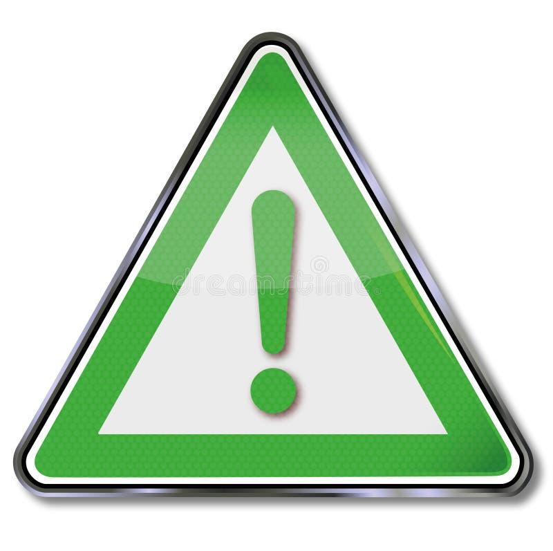 Indicativo verde de la seguridad ilustración del vector