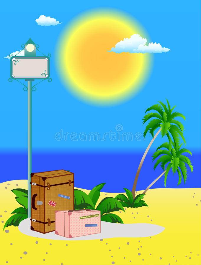 Download Indicator On Beach Stock Photography - Image: 19968782