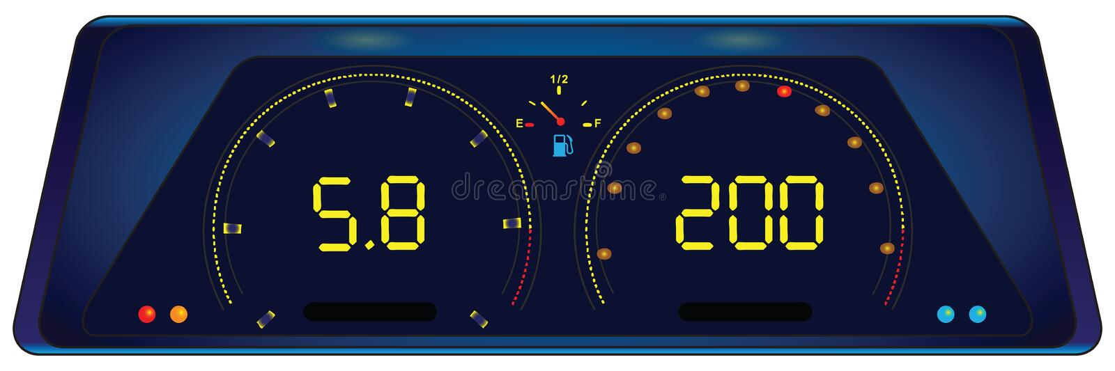 Download Indicator panel in the car stock vector. Image of motor - 23389783