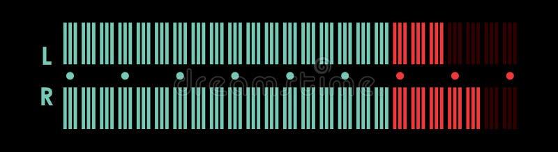Indicator van muzikale apparatuur vector illustratie