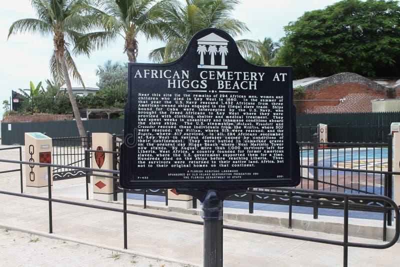 Indicatore africano del cimitero, Key West Florida fotografia stock