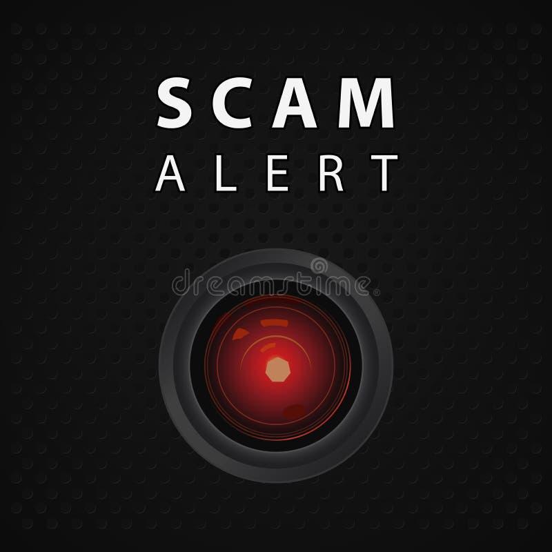 Indicatore attento di Scam illustrazione di stock