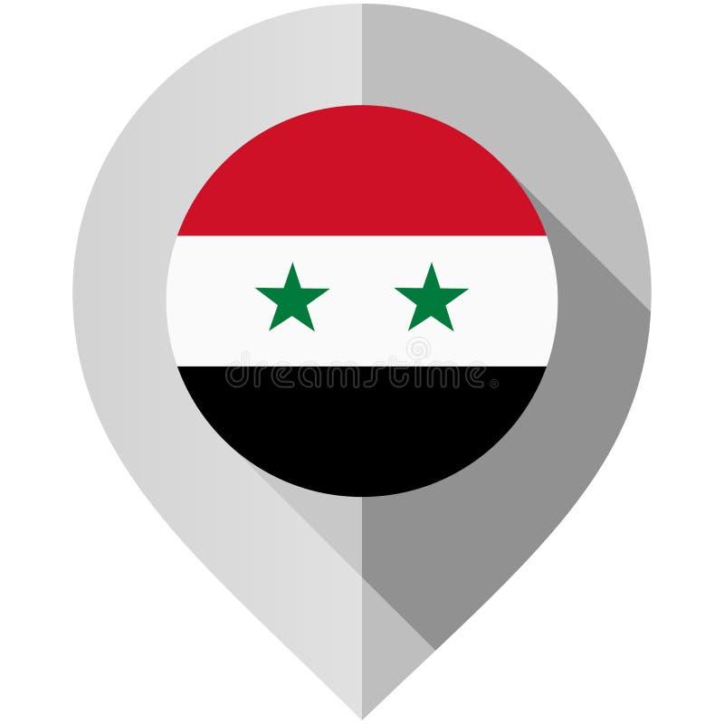 Indicatore con la bandiera per la mappa illustrazione di stock