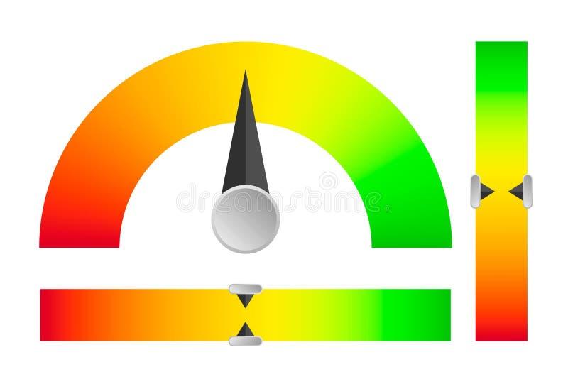 Indicatore dal livello critico alla stalla illustrazione vettoriale