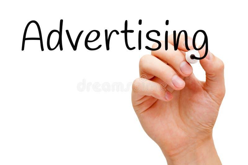 Indicatore del nero della mano di pubblicità immagini stock