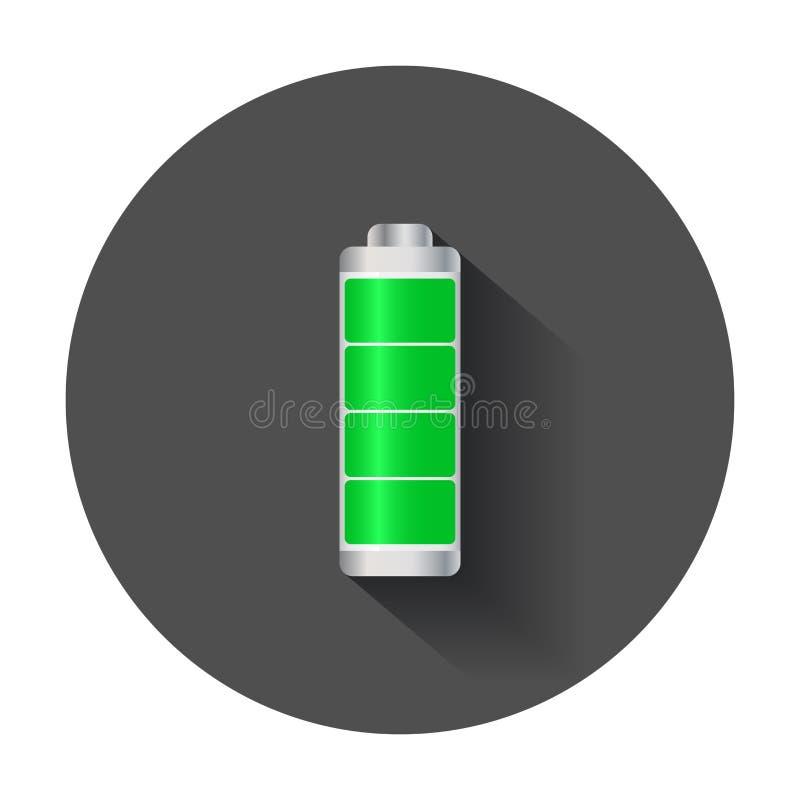 Indicatore di livello livellato pieno della carica della batteria royalty illustrazione gratis