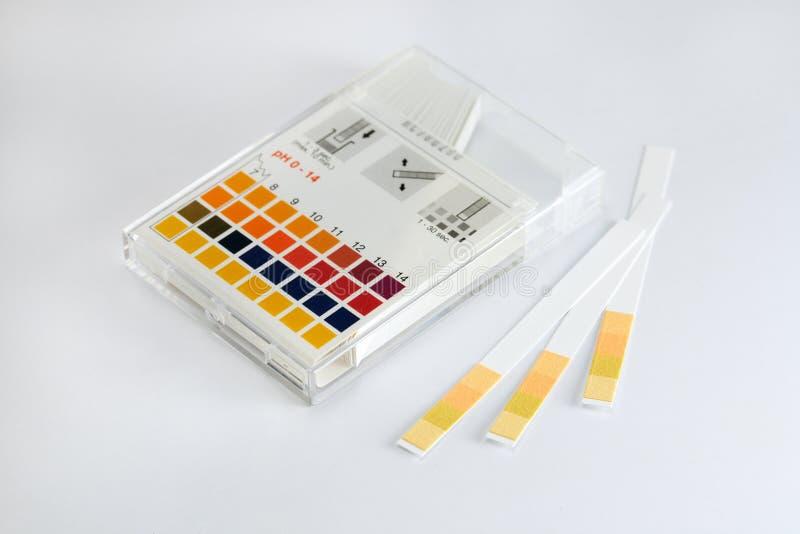 Indicatore di pH fotografia stock