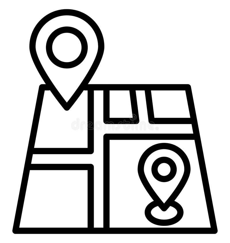 Indicatore di posizione della stampa, icona isolata di vettore che pu? modificare o pubblicare facilmente illustrazione di stock