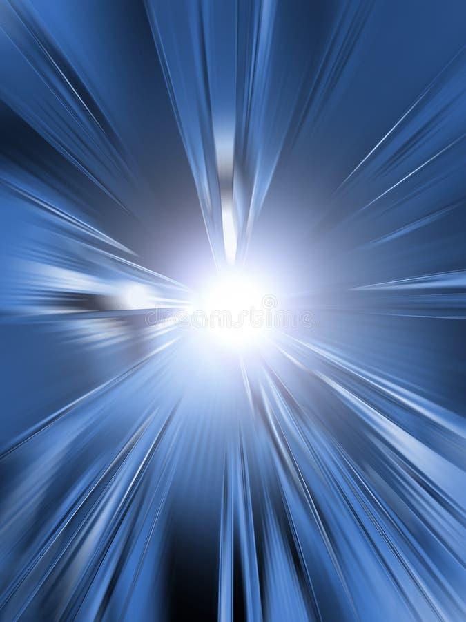 Indicatore luminoso blu illustrazione di stock