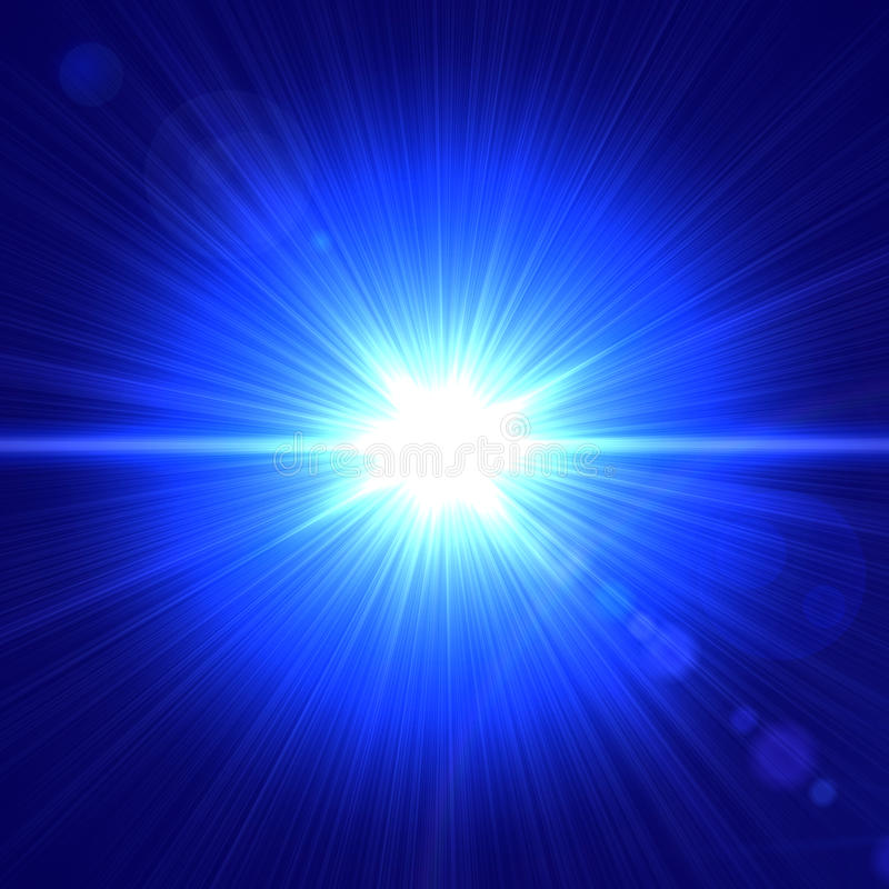 Indicatore luminoso blu illustrazione vettoriale