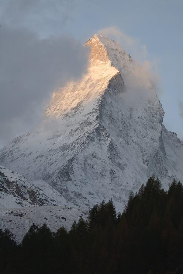 Indicatore luminoso del Matterhorn immagine stock