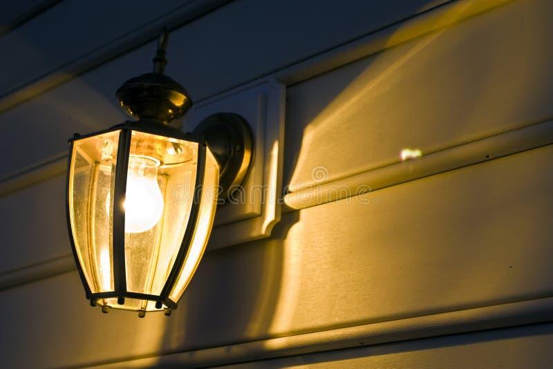 Indicatore luminoso del portico fotografia stock
