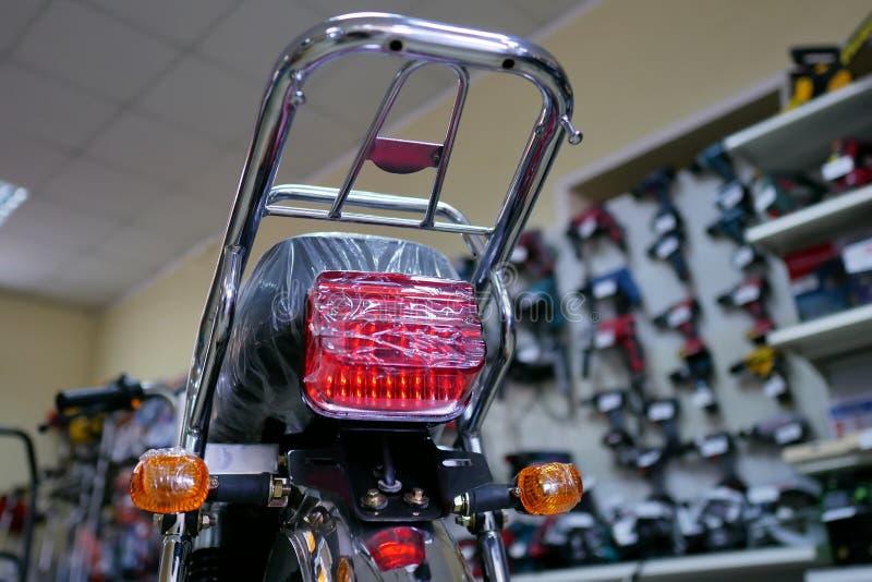 Indicatore luminoso del segnale di giro della scena del modello del motociclo immagine stock libera da diritti