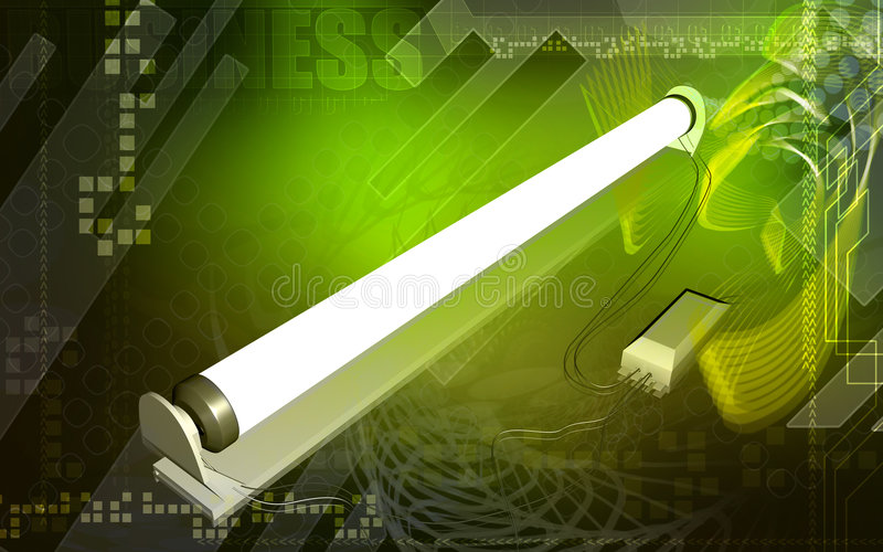 Indicatore luminoso del tubo illustrazione vettoriale