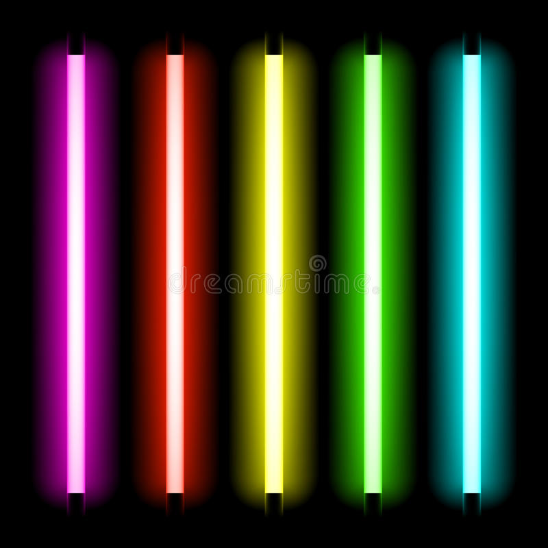 Indicatore luminoso del tubo al neon illustrazione vettoriale