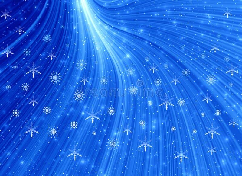 Indicatore luminoso dell'azzurro di natale royalty illustrazione gratis