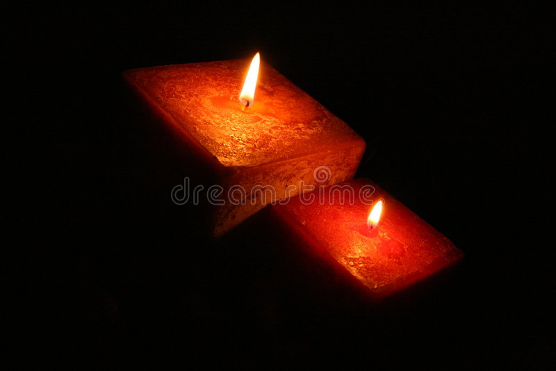 Indicatore luminoso della candela fotografie stock libere da diritti