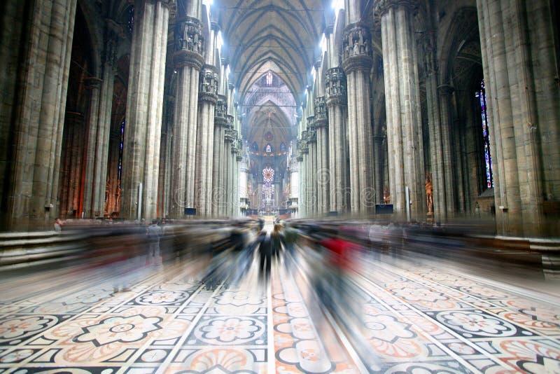 Indicatore luminoso della cattedrale di Domo, vista interna fotografia stock