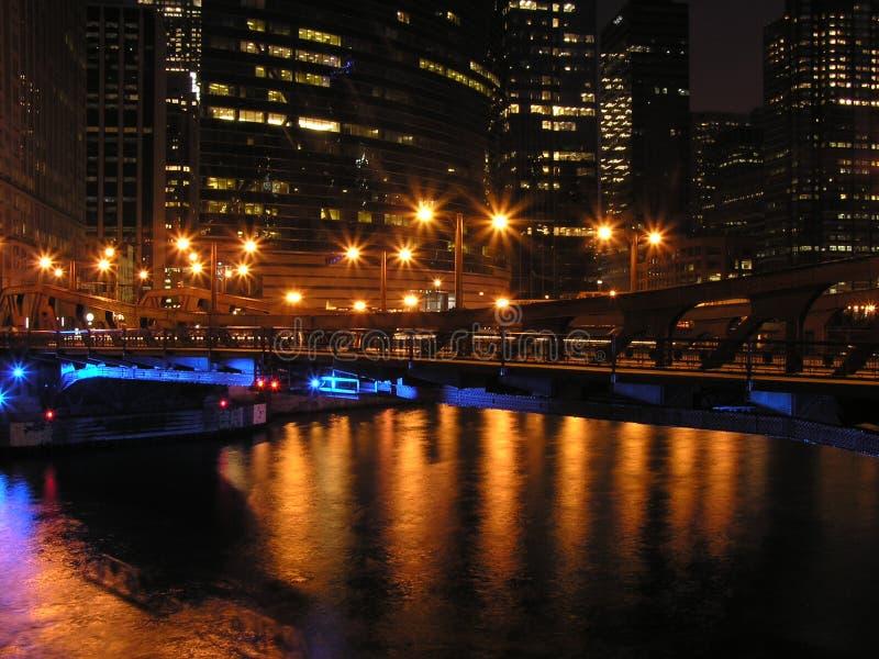 Indicatore luminoso della città fotografia stock