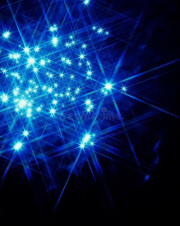 Indicatore luminoso della stella blu royalty illustrazione gratis