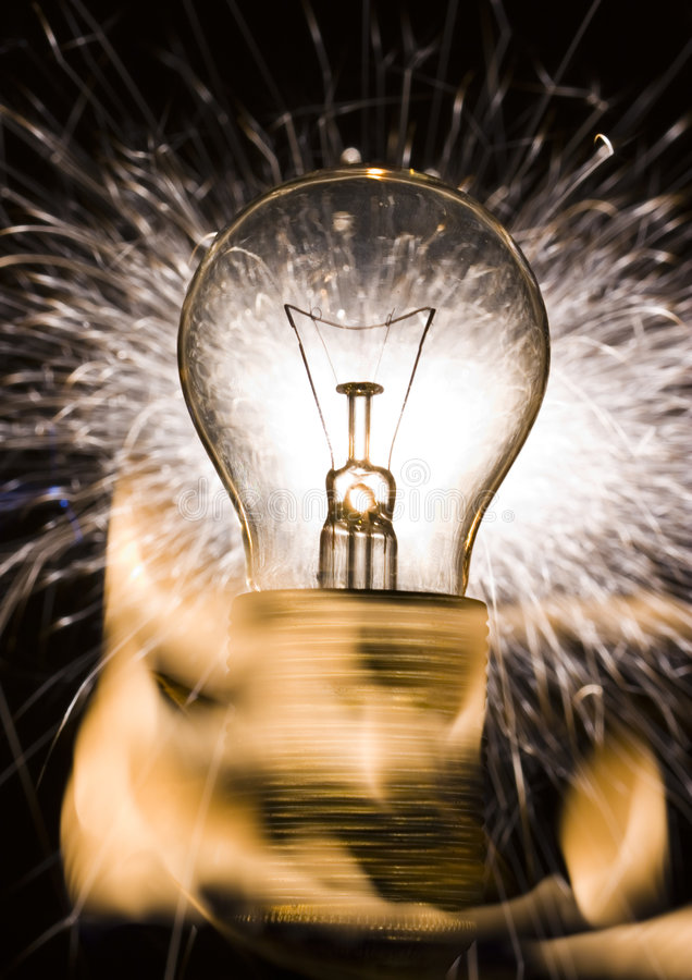 Indicatore luminoso di lampadina immagine stock libera da diritti