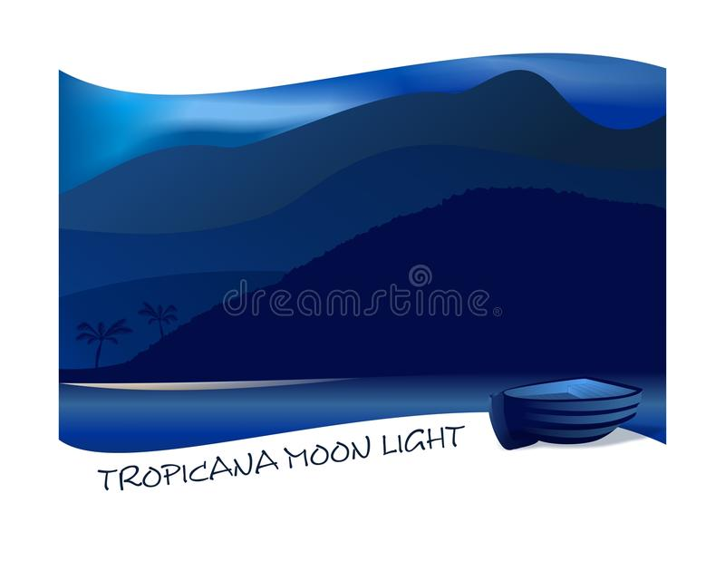 Indicatore luminoso di luna di Tropicana illustrazione di stock