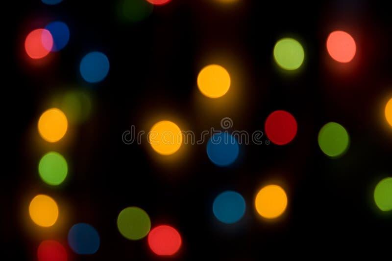 Indicatore luminoso di nuovo anno fotografia stock