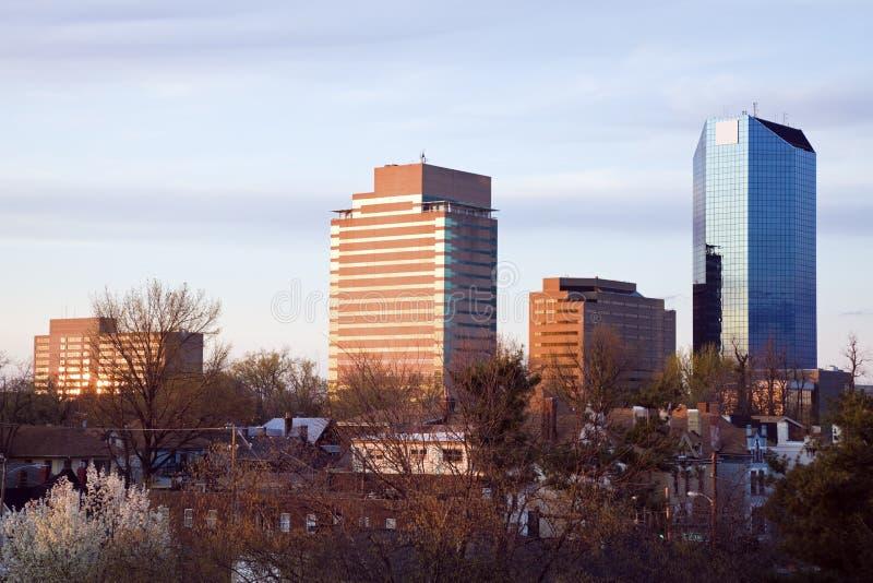 Indicatore luminoso di pomeriggio sugli edifici di Lexington. fotografie stock libere da diritti