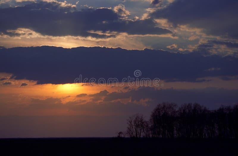 Indicatore luminoso di tramonto fotografia stock